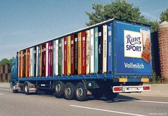 Ritter Sport Truck Graphic Wrap