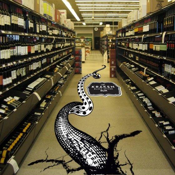 Kraken Rum Floor Graphics