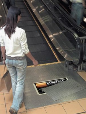 Duracell Batteries Floor Graphic