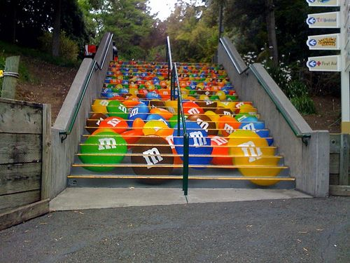 m&ms stair graphics