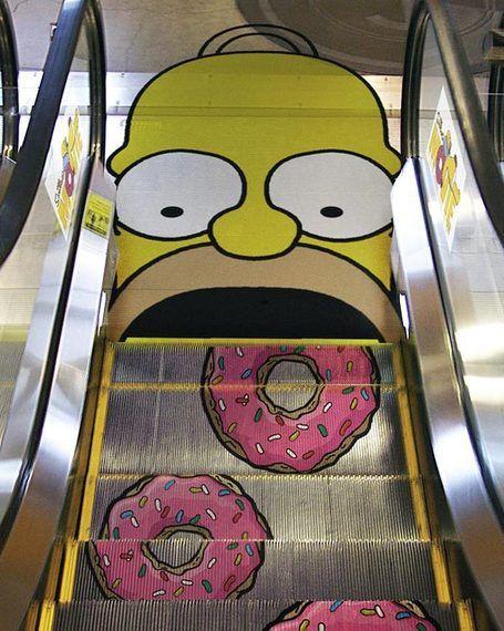 Simpsons Escalator Floor Graphic