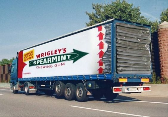 Wrigleys Spearmint Chewing Gum Truck Graphic Wrap