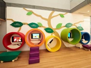 5 exhibition stands that engage children elm uk for Play school interior design ideas
